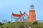 Long Point Lighthouse at Crow Head. Atlantic Ocean.<br />North Twillingate Island<br />Newfoundland & Labrador<br />Canada