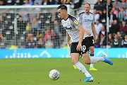 Derby County forward Tom Lawrence (10) during the EFL Sky Bet Championship match between Derby County and Swansea City at the Pride Park, Derby, England on 10 August 2019.