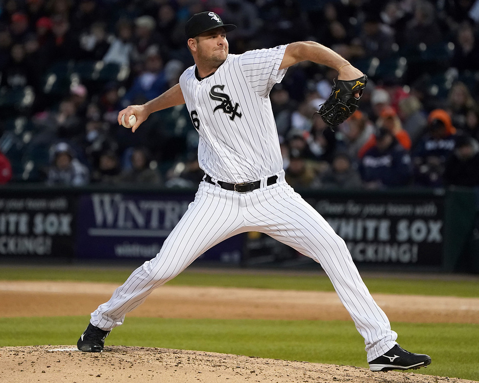 CHICAGO - April 21:  Chris Volstad #66 of the Chicago White Sox pitches against the Houston Astros on April 21, 2018 at Guaranteed Rate Field in Chicago, Illinois.  (Photo by Ron Vesely)   Subject:   Chris Volstad