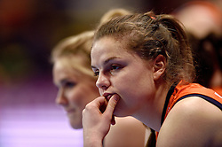 09-01-2016 TUR: European Olympic Qualification Tournament Rusland - Nederland, Ankara<br /> De Nederlandse volleybalsters hebben de finale van het olympisch kwalificatietoernooi tegen Rusland verloren. Oranje boog met 3-1 voor de Europees kampioen (25-21, 22-25, 25-19, 25-20) / Yvon Belien #3