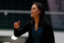 Nov 16, 2011; San Francisco CA, USA;  San Francisco Lady Dons head coach Jennifer Azzi on the sidelines against the Cal Poly Mustangs before the game at War Memorial Gym.  Mandatory Credit: Jason O. Watson-US PRESSWIRE