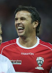 DERBY, ENGLAND - Thursday, September 8, 2011: Wales Legends' Gary Speed in action against England Legends during a legends match at Pride Park. (Pic by David Rawcliffe/Propaganda)