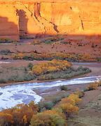 0100-1009B ~ Copyright: George H. H. Huey ~ Canyon de Chelly, sunset, autumn. Canyon de Chelly National Monument, Arizona.
