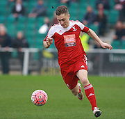 Whitehawk striker Jake Robinson during the The FA Cup match between Whitehawk FC and Lincoln City at the Enclosed Ground, Whitehawk, United Kingdom on 8 November 2015. Photo by Bennett Dean.