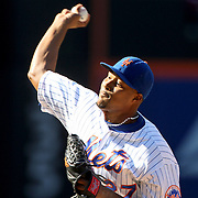 NEW YORK, NEW YORK - APRIL 13: Pitcher Jeurys Familia, New York Mets, pitching for the save during the Miami Marlins Vs New York Mets MLB regular season ball game at Citi Field on April 13, 2016 in New York City. (Photo by Tim Clayton/Corbis via Getty Images)