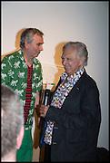 ROBIN KLASSNIK; JIMMIE DURHAM Matt's Gallery 35th birthday fundraising supper.  42-44 Copperfield Road, London E3 4RR. 12 June 2014.