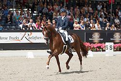 Brouwer Kirsten, (NED), Eye Catcher<br /> Selectie 6 jarige WK paarden<br /> Dutch Championship Dressage - Ermelo 2015<br /> © Hippo Foto - Dirk Caremans<br /> 18/07/15
