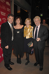 Left to right, DAVID & BARBARA DEIN and BROOK & ANITA LAND at Fast Forward - a fund-raising party for the National Theatre held at The Roundhouse, London NW1 on 1st March 2007.<br />