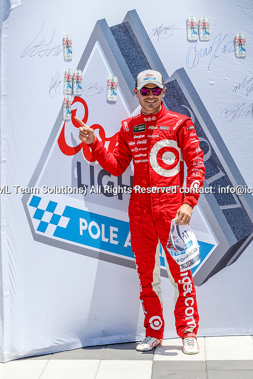 SONOMA, CA - JUNE 24: Kyle Larson (#42) took pole during qualification for the Monster Energy NASCAR Cup held at Sonoma Raceway on June 23-25, 2017. (Photo by Allan Hamilton/Icon Sportswire)