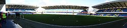 The Den stadium on a sunny day - Photo mandatory by-line: Dougie Allward/JMP - Tel: Mobile: 07966 386802 01/01/2013 - SPORT - FOOTBALL - The Den - London -  Millwall v Bristol City - Championship.