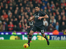 STOKE-ON-TRENT, ENGLAND - Tuesday, January 5, 2016: Liverpool's Emre Can in action against Stoke City during the Football League Cup Semi-Final 1st Leg match at the Britannia Stadium. (Pic by David Rawcliffe/Propaganda)
