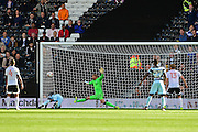 Queens Park Rangers forward Idriss Sylla (40) scores the winner during the EFL Sky Bet Championship match between Fulham and Queens Park Rangers at Craven Cottage, London, England on 1 October 2016. Photo by Jon Bromley.