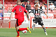 Notts County forward Adam Campbell (24) has a shot on goal during the EFL Sky Bet League 2 match between Crawley Town and Notts County at the Checkatrade.com Stadium, Crawley, England on 27 August 2016. Photo by Andy Walter.
