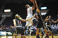 """Ole Miss vs. Christian Brothers in an exhibition basketball game at the C.M. """"Tad"""" Smith Coliseum in Oxford, Miss. on Friday, November 7, 2014. (AP Photo/Oxford Eagle, Bruce Newman)"""