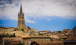 The cathedral dominates the skyline in Saint Emilion, France<br /> <br /> (c) Andrew Wilson | Edinburgh Elite media