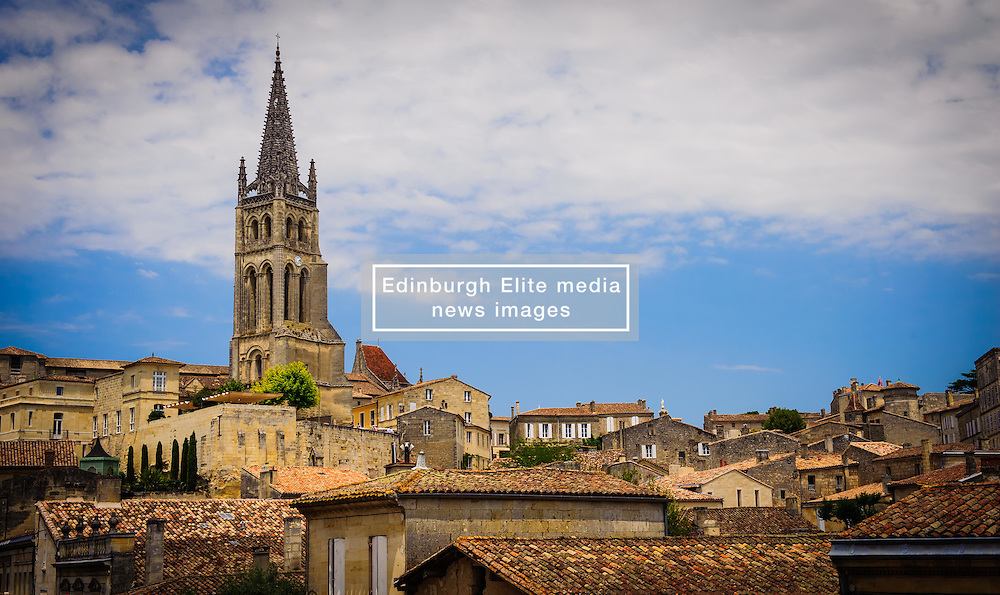 The cathedral dominates the skyline in Saint Emilion, France<br /> <br /> (c) Andrew Wilson | Edinburgh Elite media