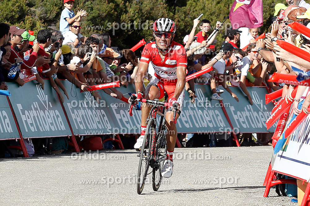 01.09.2012, 14. Etappe, Palas de Rei nach Puerto de Ancares, ESP, La Vuelta, im Bild Joaquin Purito Rodriguez // during during the La Vuelta, Stage 14 Palas de Rei to Puerto de Ancare, Spain on 2012/09/01. EXPA Pictures © 2012, PhotoCredit: EXPA/ Alterphotos/ Acero..***** ATTENTION - OUT OF ESP and SUI *****