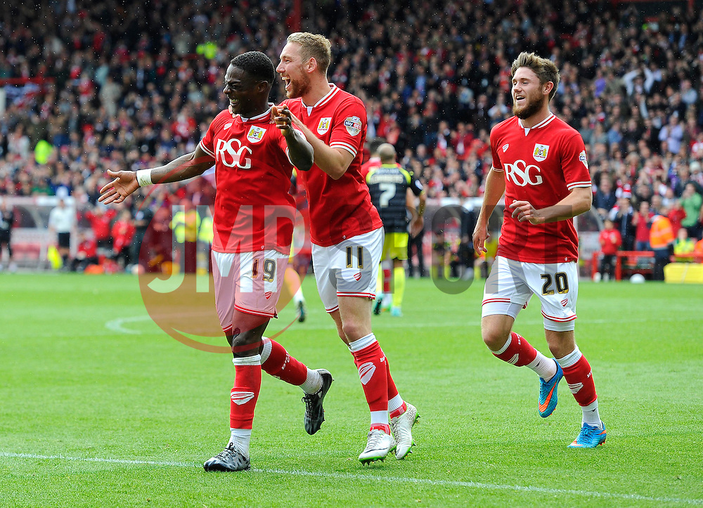 Bristol City's Kieran Agard celebrates his second goal of the game  - Photo mandatory by-line: Joe Meredith/JMP - Mobile: 07966 386802 - 03/05/2015 - SPORT - Football - Bristol - Ashton Gate - Bristol City v Walsall - Sky Bet League One