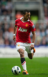 NEWCASTLE, ENGLAND - Tuesday, April 19, 2011: Manchester United's Nani in action against Newcastle United during the Premiership match at St James' Park. (Photo by David Rawcliffe/Propaganda)
