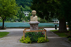 ROTTACH-EGERN, GERMANY - Wednesday, July 26, 2017: A bust of Max Joffe, King of Bayern, in Rottach-Egern, the base for Liverpool's preseason training camp in Germany. (Pic by David Rawcliffe/Propaganda)