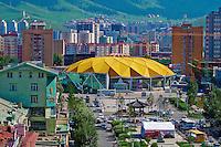 Mongolie, Oulan Bator, le cirque au centre ville // Mongolia, Ulan Bator, the national circus