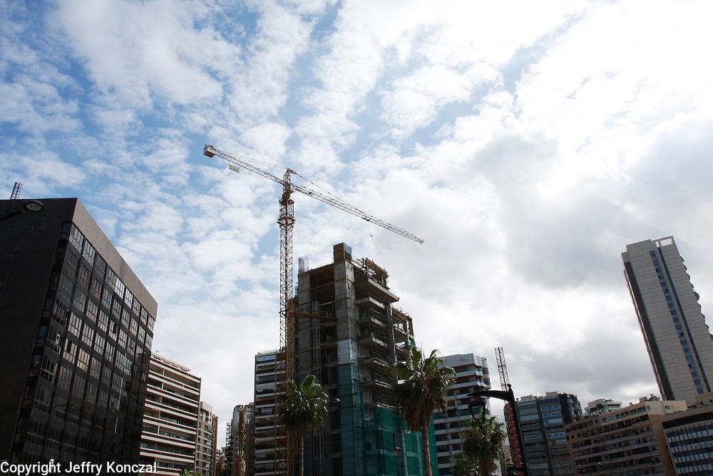 Construction in Central Beirut, Lebanon