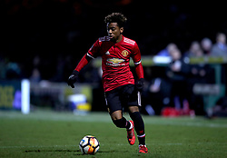 Manchester United's Angel Gomes during the Emirates FA Cup, fourth round match at Huish Park, Yeovil.