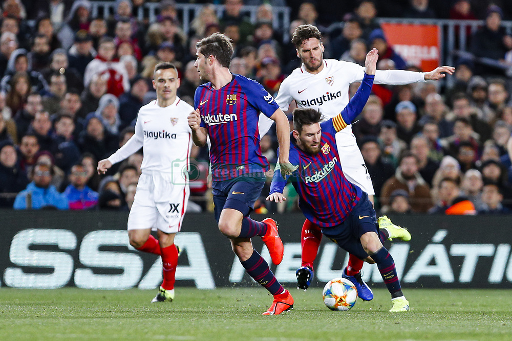 January 30, 2019 - Barcelona, Spain - FC Barcelona forward Lionel Messi (10) during the match FC Barcelona v Sevilla CF, for the round of 8, second leg of the Copa del Rey played at Camp Nou  on 30th January 2019 in Barcelona, Spain. (Credit Image: © Mikel Trigueros/NurPhoto via ZUMA Press)