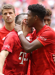 18.05.2019, Allianz Arena, Muenchen, GER, 1. FBL, FC Bayern Muenchen vs Eintracht Frankfurt, 34. Runde, Meisterfeier nach Spielende, im Bild Franck Ribery und David Alaba beim Abschied // during the celebration after winning the championship of German Bundesliga season 2018/2019. Allianz Arena in Munich, Germany on 2019/05/18. EXPA Pictures © 2019, PhotoCredit: EXPA/ SM<br /> <br /> *****ATTENTION - OUT of GER*****