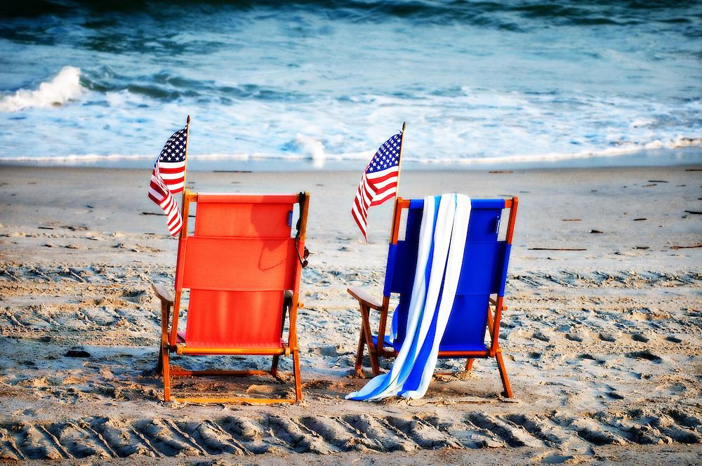 Patriotic Beach Chairs