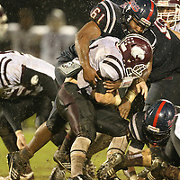 Lauren Wood   Buy at photos.djournal.com<br /> Baldwyn's Tice Bowdry tackles Eupora's Jack Smith during Friday night's game against Eupora.