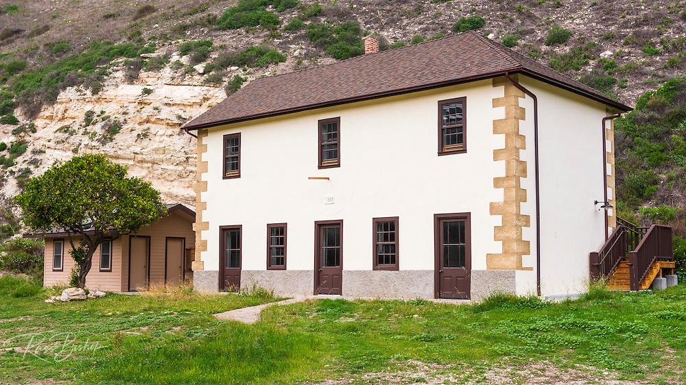 Ranch house at Smugglers Cove, Santa Cruz island, Channel Islands National Park, California USA