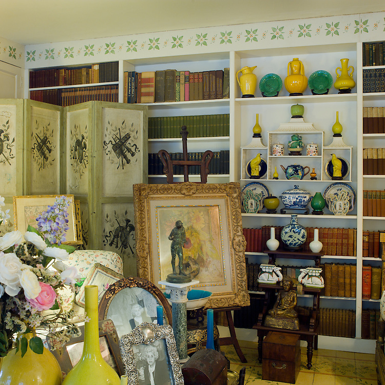 The sitting room or stenciled room.  Private home of retired set designer.
