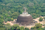 "Rankoth Vehera is a stupa located in the ancient city of Polonnaruwa. The stupa was built by Nissanka Malla, who ruled the country from 1187 to 1196. Rankoth Vehera in Sinhalese, ran means gold, kotha is the name given to the pinnacle of a stupa, and vehera means stupa or temple. Thus, the name Rankoth Vehera can be roughly translated to English as ""Gold Pinnacled Stupa"