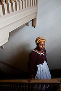 Williamsburg, VA - October 5, 2010: Actor-interpretor Deidre Jones poses for a portrait prior to beginning a performance in Colonial Williamsburg, Virginia on Tuesday, October 5, 2010.<br /> <br /> (Photo by Matt Eich/LUCEO for The Washington Post)