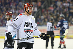 01.03.2019, O2 World, Berlin, GER, DEL, Eisbaeren Berlin vs Koelner Haie, 52. Runde, im Bild Pascal Zerressen #27 - Haie // during the DEL 52th round match between Eisbaeren Berlin and Koelner Haie at the O2 World in Berlin, Germany on 2019/03/01. EXPA Pictures © 2019, PhotoCredit: EXPA/ Eibner-Pressefoto/ Uwe Koch<br /> <br /> *****ATTENTION - OUT of GER*****