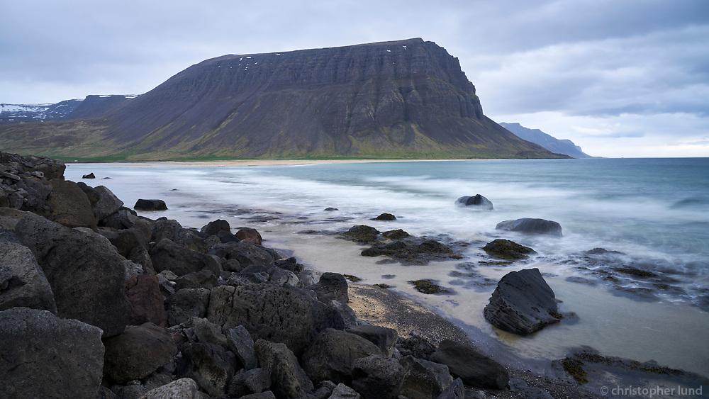Hvesta in Arnarfjörður, West fiords of Iceland.