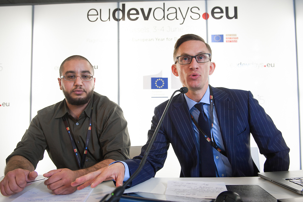 03 June 2015 - Belgium - Brussels - European Development Days - EDD - Gender - Gender equality - Exploring innovative ways to engage boys and young men in shifting social norms - Peter Pawlak , International Consultant - Jay Feghali<br /> Programme Officer, Abaad &copy; European Union