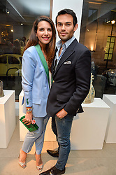 RACIL CHALHOUB and MARK-FRANCIS VANDELLI at a private view of Bright Young Things held at the David Gill Gallery, 2-4 King Street, London on 19th April 2016.