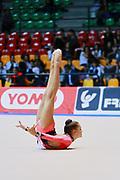 Jamie Caparelli  atleta della società Etruria di Prato durante la seconda prova del Campionato Italiano di Ginnastica Ritmica.<br /> La gara si è svolta a Desio il 31 ottobre 2015.