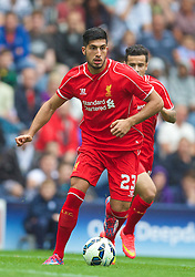 PRESTON, ENGLAND - Saturday, July 19, 2014: Liverpool's Emre Can in action against Preston North End during a preseason friendly match at Deepdale Stadium. (Pic by David Rawcliffe/Propaganda)