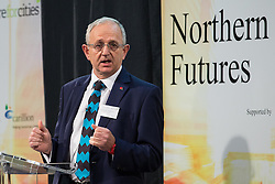 © Licensed to London News Pictures . 06/11/2014 . Leeds , UK . The Leader of Leeds City Council , COUNCILLOR KEITH WAKEFIELD , addresses the Northern Futures Summit in Leeds this morning (Thursday 6th November 2014) .  . Photo credit : Joel Goodman/LNP