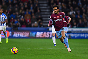 Felipe Anderson of West Ham United (8) attacks forward with the ball during the Premier League match between Huddersfield Town and West Ham United at the John Smiths Stadium, Huddersfield, England on 10 November 2018.