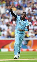 Cricket - 2019 ICC Cricket World Cup - Semi-Final: England vs. Australia<br /> <br /> England's Jofra Archer celebrates taking the wicket of Australia's Glenn Maxwell caught by England's Eoin Morgan for 22, at Edgbaston, Birmingham.<br /> <br /> COLORSPORT/ASHLEY WESTERN