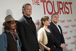 16.12.2010, Villamagna Hotel, Madrid, ESP. The Tourist Photocall in Madrid, im Bild (L-R) Actor Johnny Depp, director Florian Henckel Von Donnersmarck and actress Angelina Jolie attend 'The Tourist' photocall at Villamagna Hotel on December 16, 2010 in Madrid, EXPA Pictures © 2010, PhotoCredit: EXPA/ Alterphotos/ Cesar Cebolla / ALFAQUI