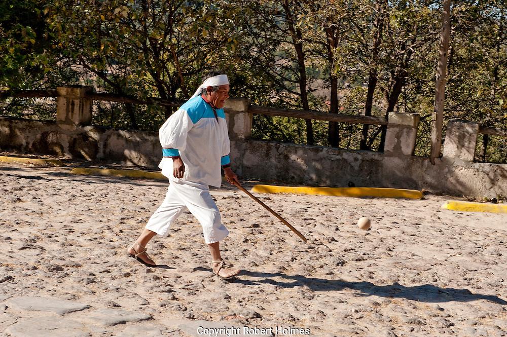 Traditional Tarahumara games, Copper Canyon, Mexico
