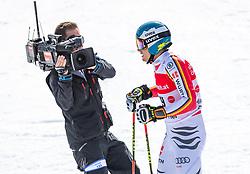 02.03.2020, Hannes Trinkl Weltcupstrecke, Hinterstoder, AUT, FIS Weltcup Ski Alpin, Riesenslalom, Herren, 2. Lauf, im Bild Alexander Schmid (GER) // Alexander Schmid of Germany reacts after his 2nd run of men's Giant Slalom of FIS ski alpine world cup at the Hannes Trinkl Weltcupstrecke in Hinterstoder, Austria on 2020/03/02. EXPA Pictures © 2020, PhotoCredit: EXPA/ Johann Groder