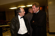 Ian McEwan and  Andrew Motion, The Man Booker prize awards ceremony 2004 . The Royal Horticultural Hall, 19 October 2004. ONE TIME USE ONLY - DO NOT ARCHIVE  © Copyright Photograph by Dafydd Jones 66 Stockwell Park Rd. London SW9 0DA Tel 020 7733 0108 www.dafjones.com