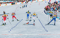 21.02.2019, Langlauf Arena, Seefeld, AUT, FIS Weltmeisterschaften Ski Nordisch, Seefeld 2019, Langlauf, Damen, Sprint, im Bild v.l. Kristine Stavaas Skistad (NOR), Stina Nilsson (SWE), Sophie Caldwell (USA) // f.l. Kristine Stavaas Skistad of Norway Stina Nilsson of Sweden and Sophie Caldwell of the USA during the ladie's Sprint competition of the FIS Nordic Ski World Championships 2019. Langlauf Arena in Seefeld, Austria on 2019/02/21. EXPA Pictures © 2019, PhotoCredit: EXPA/ Stefan Adelsberger