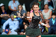 Paris, France - 2017 May 30: Agnieszka Radwanska from Poland plays a forehand during her women's single match first round during tennis Grand Slam tournament The French Open 2017 (also called Roland Garros) at Stade Roland Garros on May 30, 2017 in Paris, France.<br /> <br /> Mandatory credit:<br /> Photo by &copy; Adam Nurkiewicz<br /> <br /> Adam Nurkiewicz declares that he has no rights to the image of people at the photographs of his authorship.<br /> <br /> Picture also available in RAW (NEF) or TIFF format on special request.<br /> <br /> Any editorial, commercial or promotional use requires written permission from the author of image.